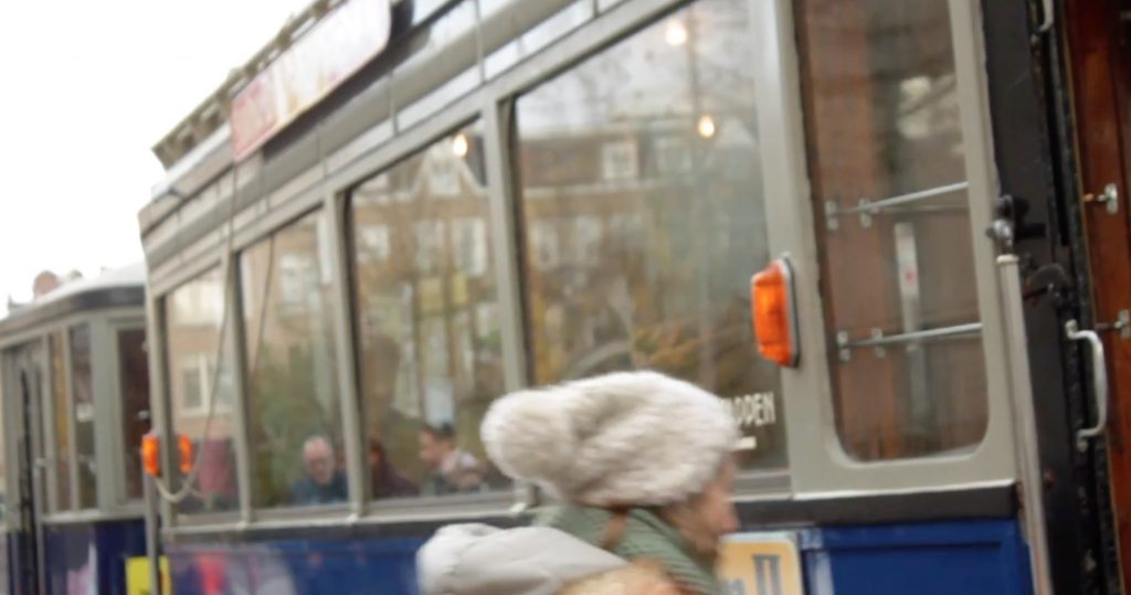 tram old blurry
